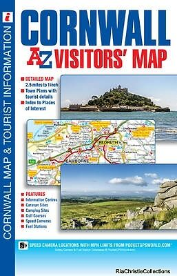 Cornwall Visitors Map Geographers A-Z Map Company Sheet map folded New Book Free