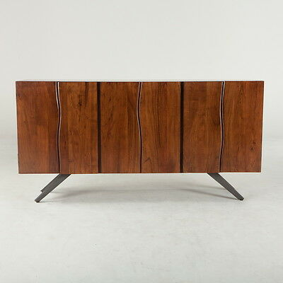 """74"""" Walnut Vintage design style sideboard made from acacia wood with iron legs"""