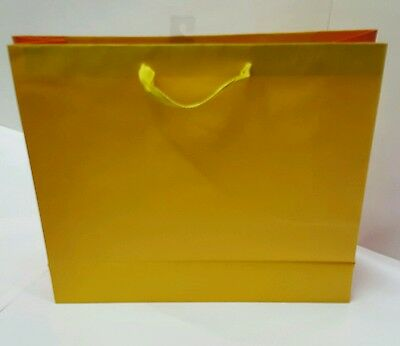 Lot Of 8 Boxes Yellow Luxury Designed Paper Bags With Handles