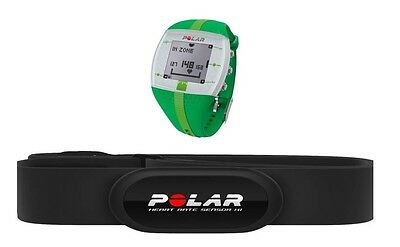 Polar FT4 Heart Rate Monitor Green Exercise HR bpm Calories Swimming Boxed Used