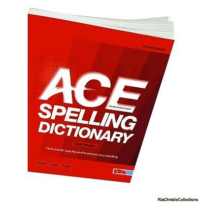 ACE Spelling Dictionary David Moseley New Paperback Free UK Post