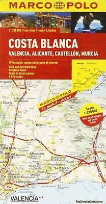 Costa Blanca Marco Polo Map New Hardback Free UK Post
