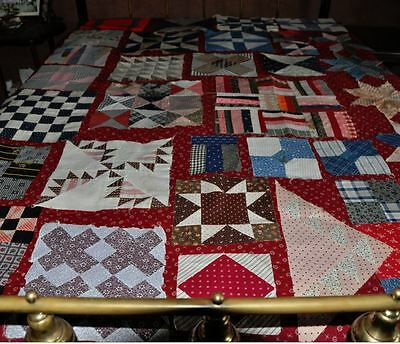 (30) x 1880-1910 – WONDERFUL SET of SAMPLER ANTIQUE VINTAGE QUILT BLOCKS Set # 4
