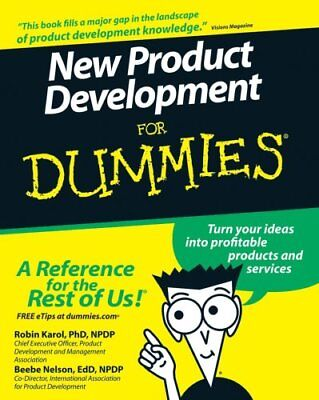 New Product Development For Dummies by Robin Karol 9780470117705
