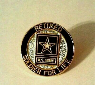 Retired U.S. Army Soldier For Life Regulation Hat Pin Made in America