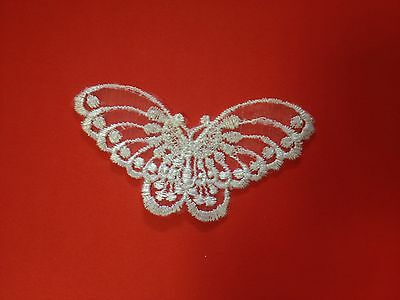 Small Butterfly  Lace Applique Motif