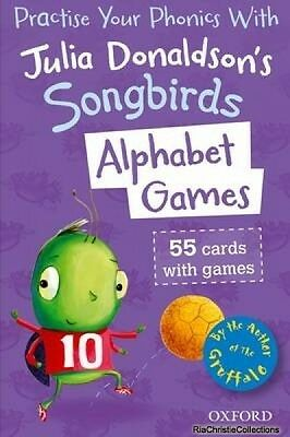 Oxford Reading Tree Songbirds Alphabet Games Flashcards Julia Donaldson New Pape