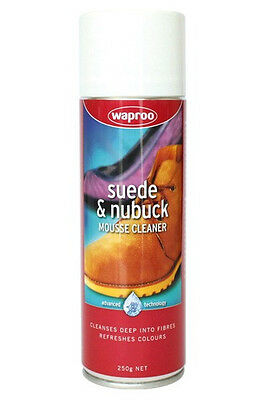 Waproo Suede and Nubuck Mousse Cleaner - Removes Stains on suede, nubuck, fabric