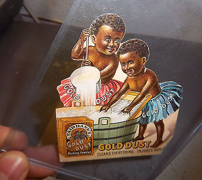 """Vintage Advertising Card for """"Gold Dust Washing Powder"""" cleans everything, nice"""