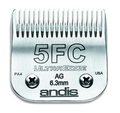 """Andis UltraEdge # 5F Detachable Replacement Clipper Blade # 64122 1/4"""" 6.3mm NEW"""