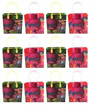 12pc Dreamworks Trolls Party Favor Supplies Goody Loot Gift Candy Bags