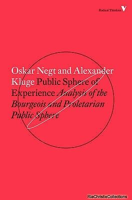 Public Sphere and Experience Oskar Negt New Paperback Free UK Post