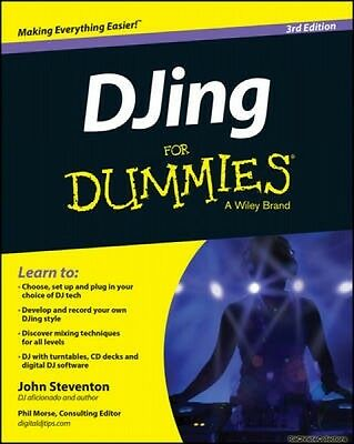 DJing For Dummies John Steventon Paperback New Book Free UK Delivery
