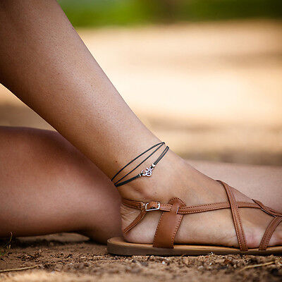 Womens Rope Silver Plated Anklet Bracelet Sandal Beach Adjustable Jewelry