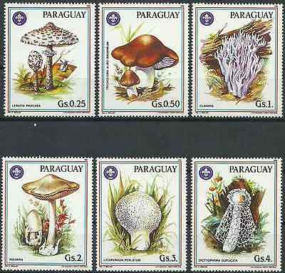 Timbres Champignons Paraguay 2207/12 ** lot 15951