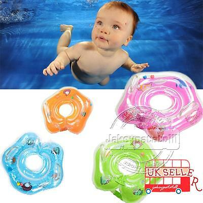UK Baby Swimming Neck Float Inflatable Ring Adjustable Safety Aids 1-24 Months