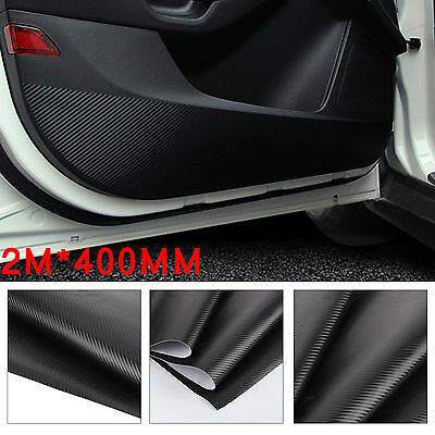 2Mx400MM Car Home DIY 3D Carbon Fiber Vinyl Wrap Roll Film Sticker Decal Black