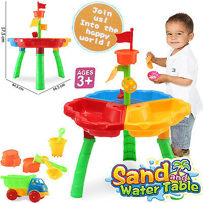 Sand And Water Table Watering Can Spade Kids Outdoor Garden Sandpit Toy Play Set