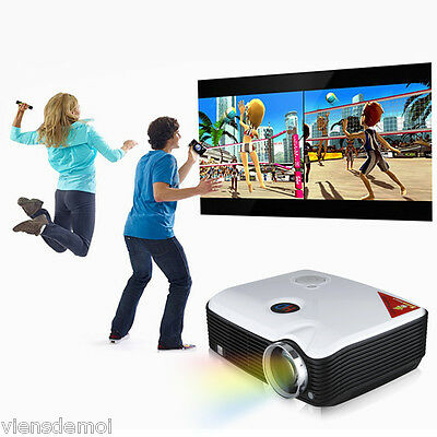 2500 Lumens 1080P HD LED Projector Multimedia Home Theater 2000:1 HDMI/USB/SD UK