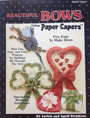 Beautiful Bows Using Paper Capers - Paper Craft