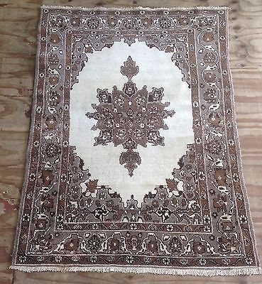 Vintage Persian Medallion Rug With Unusual Colours
