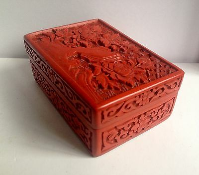 Vintage Chinese Cinnabar Lacquered Box