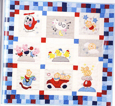 Nursery Quilt - fun applique and pieced baby quilt PATTERN - Red Brolly