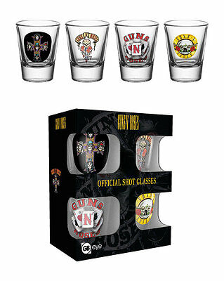 Official Guns And Roses - Mix - 4 Pack Of 2oz Shot Glasses