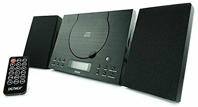 Denver MC-5010 Wall Mountable Mini Compact Stereo Black CD player HiFi System In