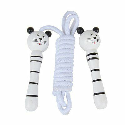 20X(Childrens Wooden Handle Skipping Rope Animal Colourful Cartoon Zoo)SR