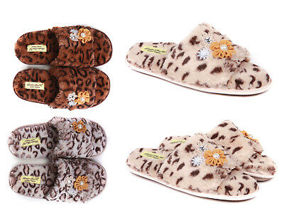 Ladies Luxury Slip On Slippers Size 3 to 8 UK - SPA STYLE WARM INDOOR SLIPPERS