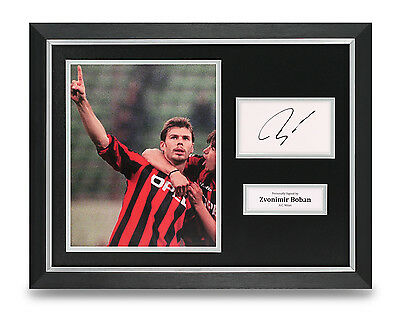 Zvonimir Boban Signed Photo Framed 16x12 AC Milan Autograph Memorabilia Display