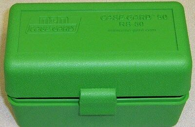 MTM Case Gard™ New MTM Plastic Ammo Box 50 Rd RS-50-10 Rifle 223 204 17 Green