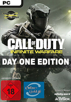 Call of Duty Infinite Warfare Day One Edition Key - PC Steam Digital Code DE/EU