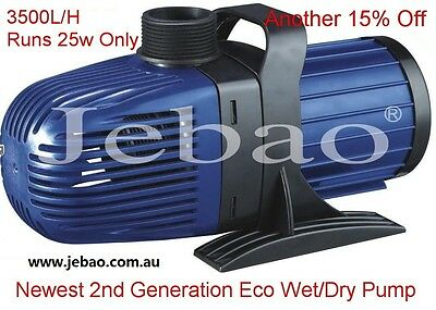 New Jebao CM 3500 L/H 25w Energy-Saving Eco Pump With 10M Cable +1 Year Warranty