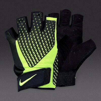 Nike Mens Core Lock 2.0 Sports Weight Lifting Training Gloves - Black & Yellow
