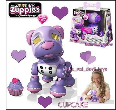 Zoomer Zuppies CUPCAKE Your Personal Puppy Dog Electronic Pet Zuppy Love Pink