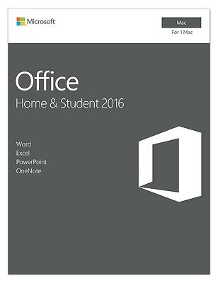 Microsoft GZA-00850 Office 2016 Home & Student - 1 Mac - Software Suite