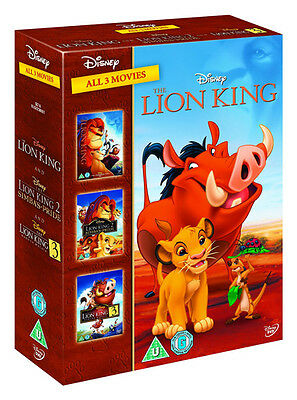 LION KING 1 - 3 DVD NEW Region 2 Box Set DISNEY