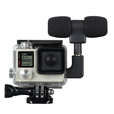 Side Open Skeleton Housing Case + Microphone + Adapter Kit for GoPro Hero 4 3+