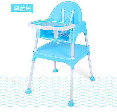 3 in 1 Multifunctional Baby High Chair feeding seat Table Harness Toddler Desk