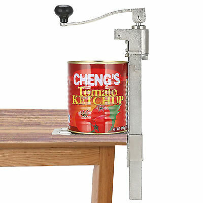 Commercial Heavy Duty Catering Tin Can Opener Large Kitchen Bench Clamp Mount UK