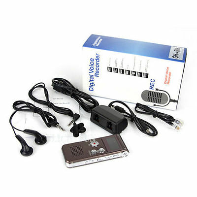 Rechargeable 8GB Digital Audio Voice Recorder USB Dictaphone MP3 Player WAV PC