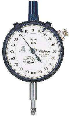 Mitutoyo 2109S-10 Micron Dial Indicator 0-1mm 0.001