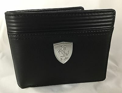 New Puma Ferrari Wallet LS Bi-Fold Black Men's  07349601