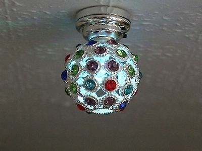 Dolls House Miniature 1/12th Scale Disco LED Battery Lights - Colour Changing