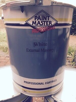 WHITE EXTERIOR MASONRY SMOOTH BEST QUALITY 20lts PAINTMASTER PAINT.