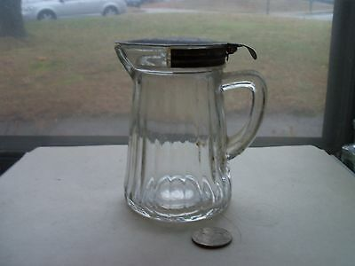 Fancy  Pitcher With Working Metal Lid -1910 Period