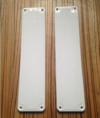 Plastic Door Finger Plates White x 2 Good Quality Easy to Fit push plates