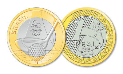 Rio 2016 Brazil Olympic Coin 1 Real - Choose From The List - Uncirculated